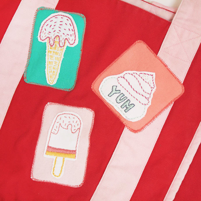 Ice Cream Embroidery Patches