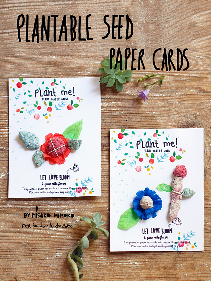 Diy Plantable Seed Paper Cards ⋆ Handmade Charlotte
