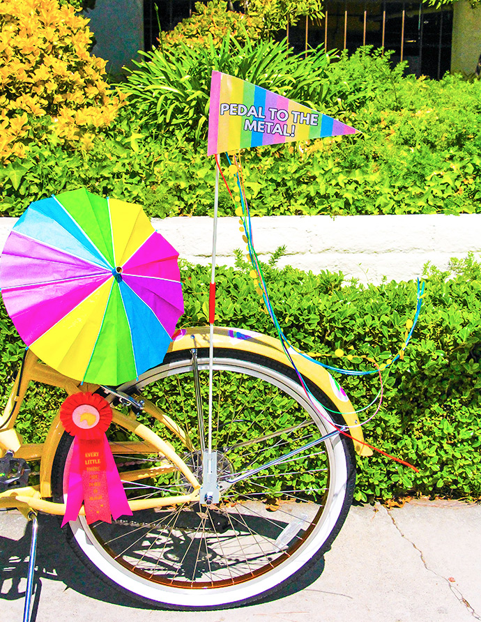 Printable Rainbow Bike Flags