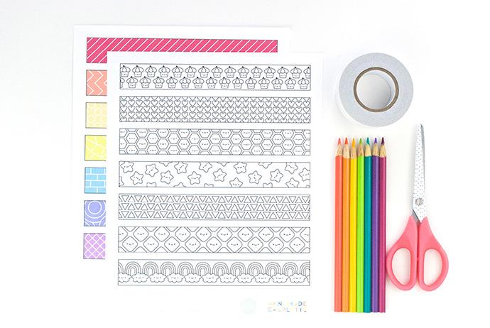 Printable Paper Coloring Tape
