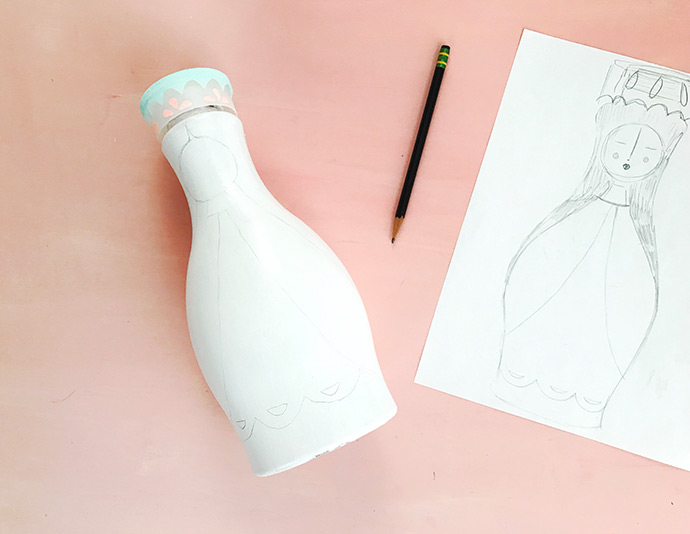 Upcycled Almond Milk Bottle Dolls