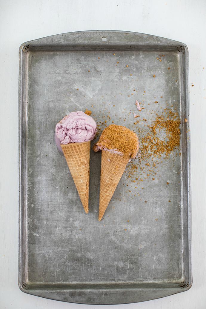 Mixed Berry Cheesecake No-Churn Ice Cream