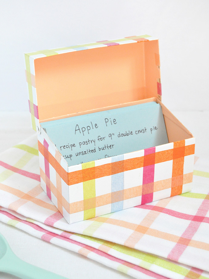 Mod Podge Recipe Box