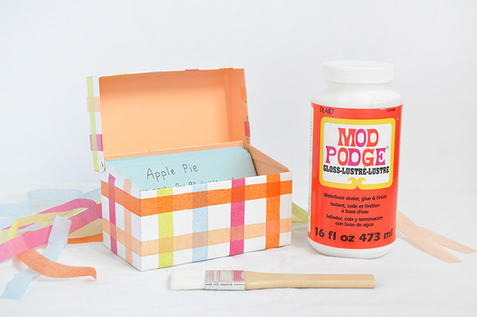Mod podge recipe box handmade charlotte howldb for Mod podge recipe