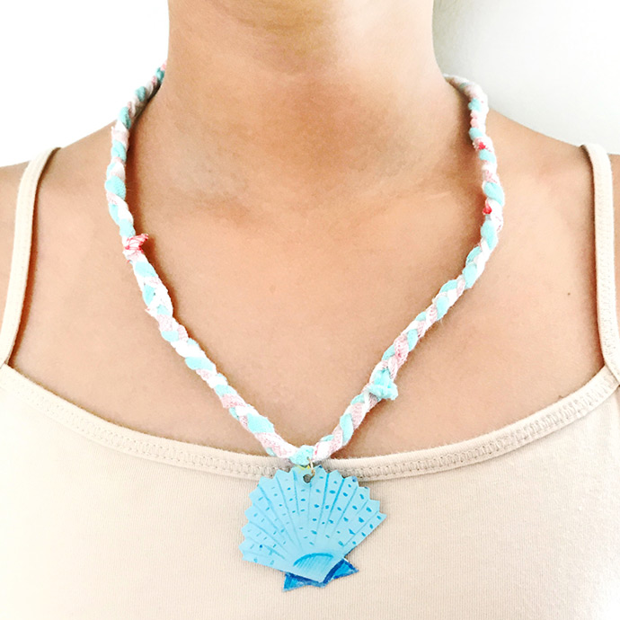 Upcycled Under the Sea Charm Necklace