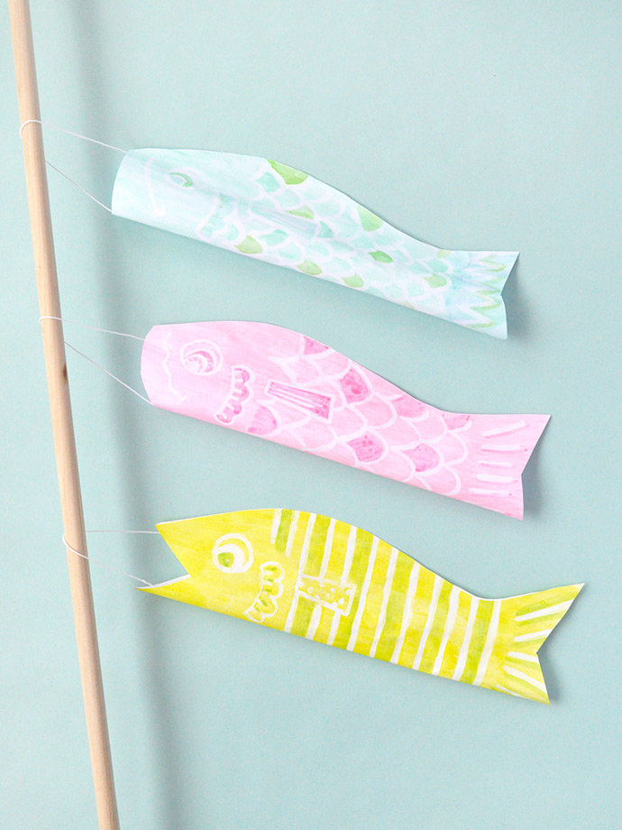 Watercolor Japanese Windsocks