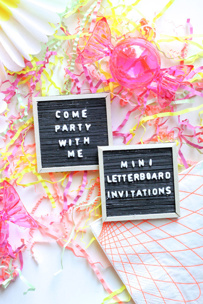 Mini Letter Board Invitations