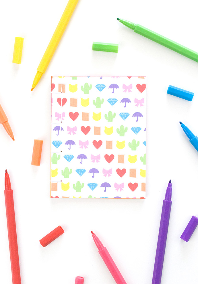 picture regarding Printable Notebooks named Printable Rainbow Emoji Notebooks ⋆ Selfmade Charlotte