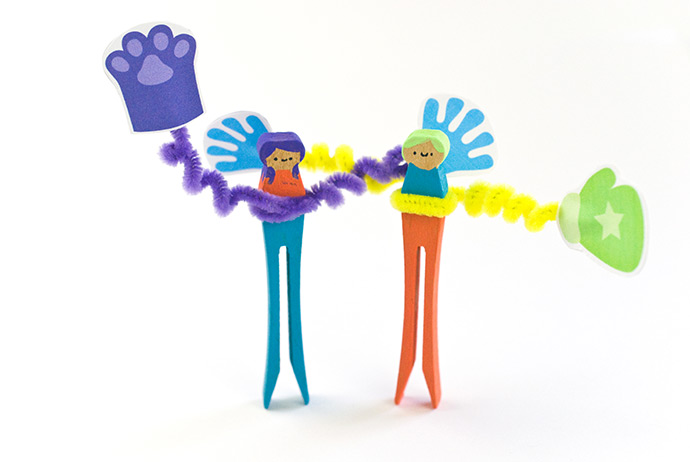Wacky Arm Clothespin Dolls