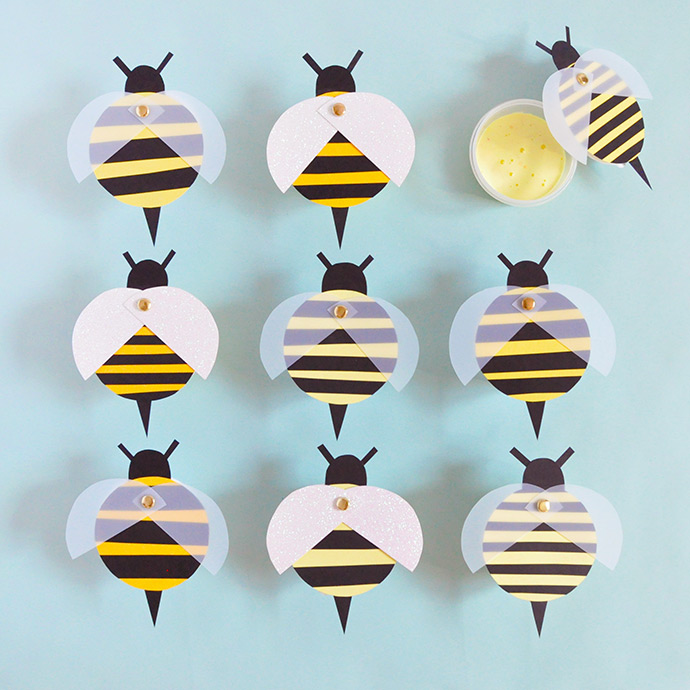 Mod Podge Honeybee Slime Favors