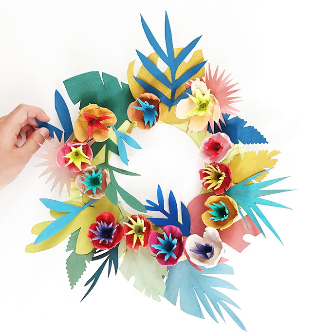 Upcycled Island Wreath