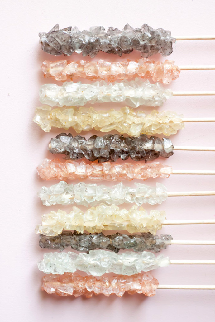 Faux Rock Candy Magnets