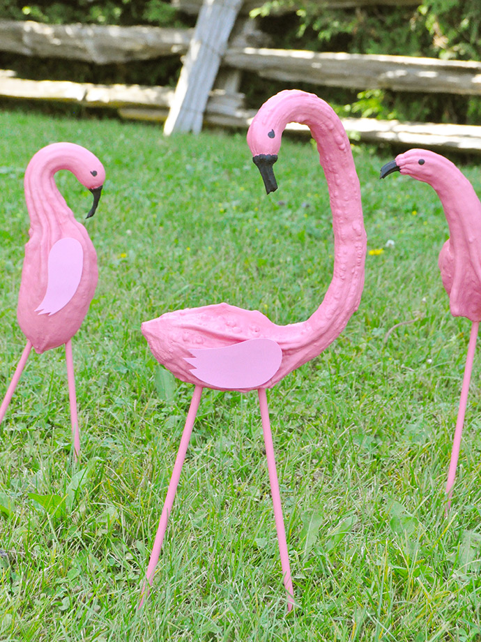 Diy Painted Flamingo Gourds Handmade Charlotte
