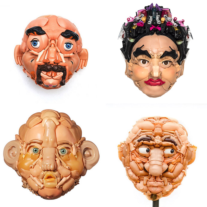 Upcycled Doll Faces