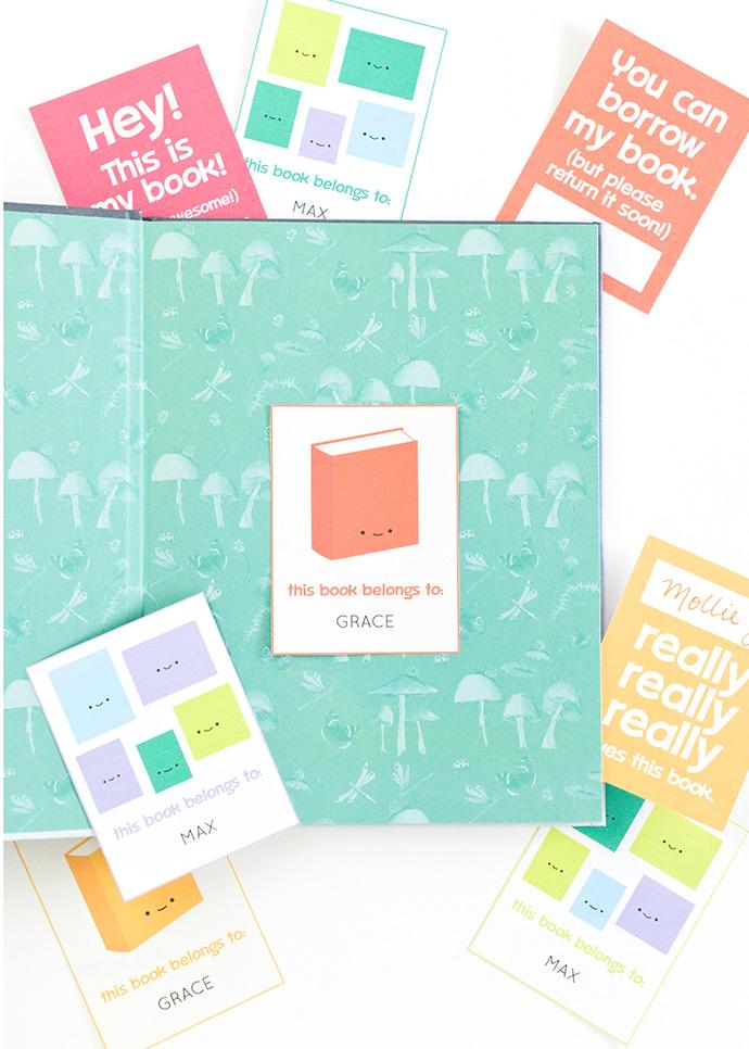 Printable Bookplates for Kids