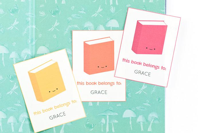 photograph regarding Printable Bookplates identify Printable Bookplates for Youngsters ⋆ Homemade Charlotte