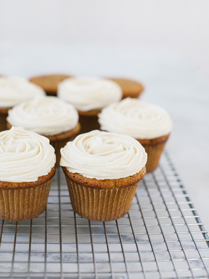 Apple Muffins with Cream Cheese Frosting