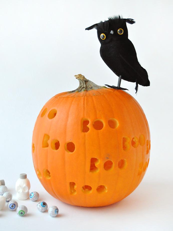 Diy Spooky Drilled Pumpkins ⋆ Handmade Charlotte