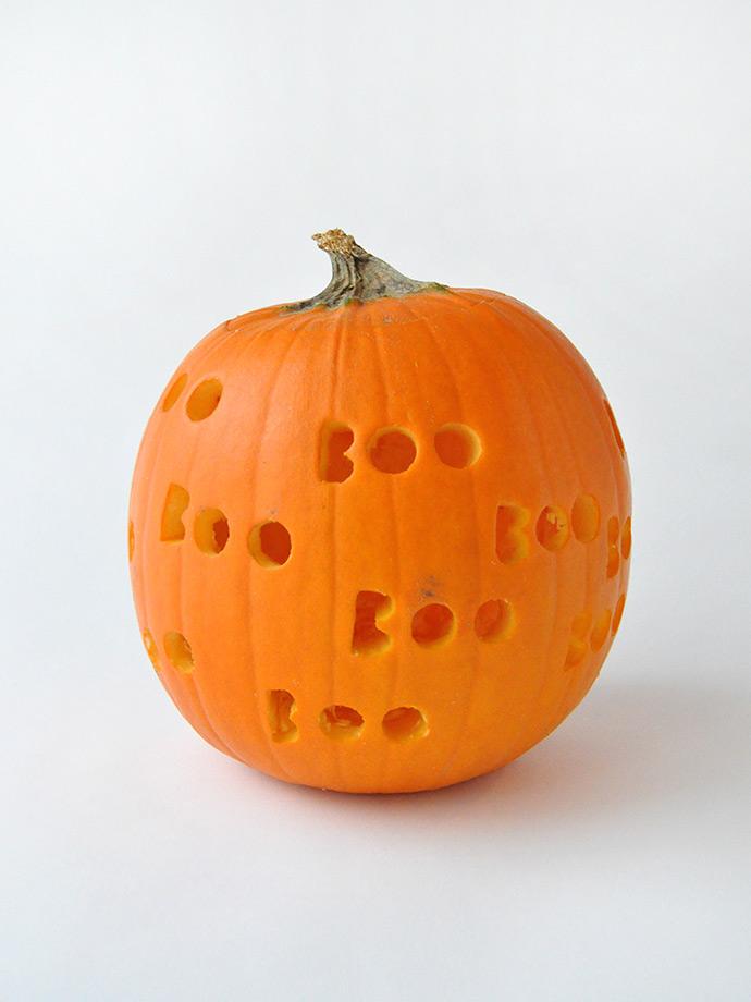 DIY Spooky Drilled Pumpkins | Handmade Charlotte
