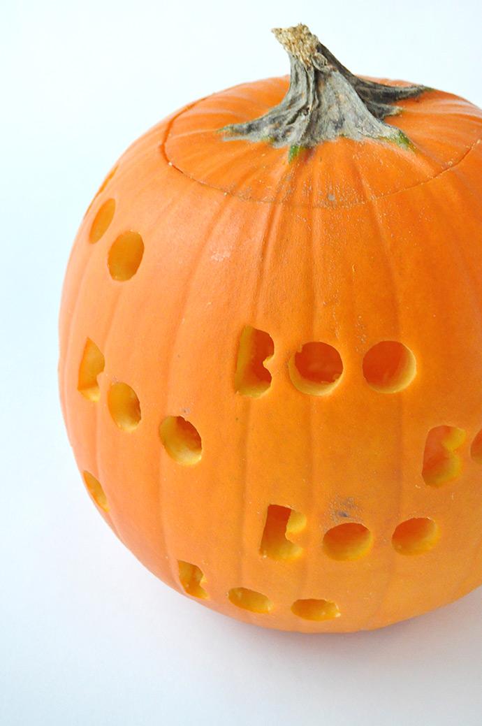 Diy spooky drilled pumpkins handmade charlotte howldb