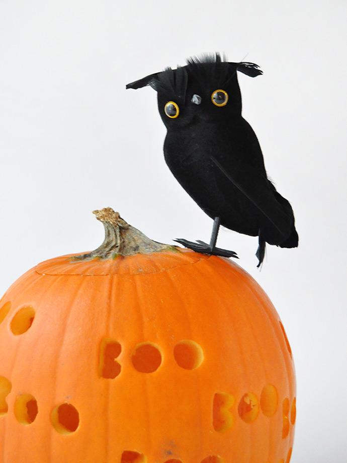 DIY Spooky Drilled Pumpkins