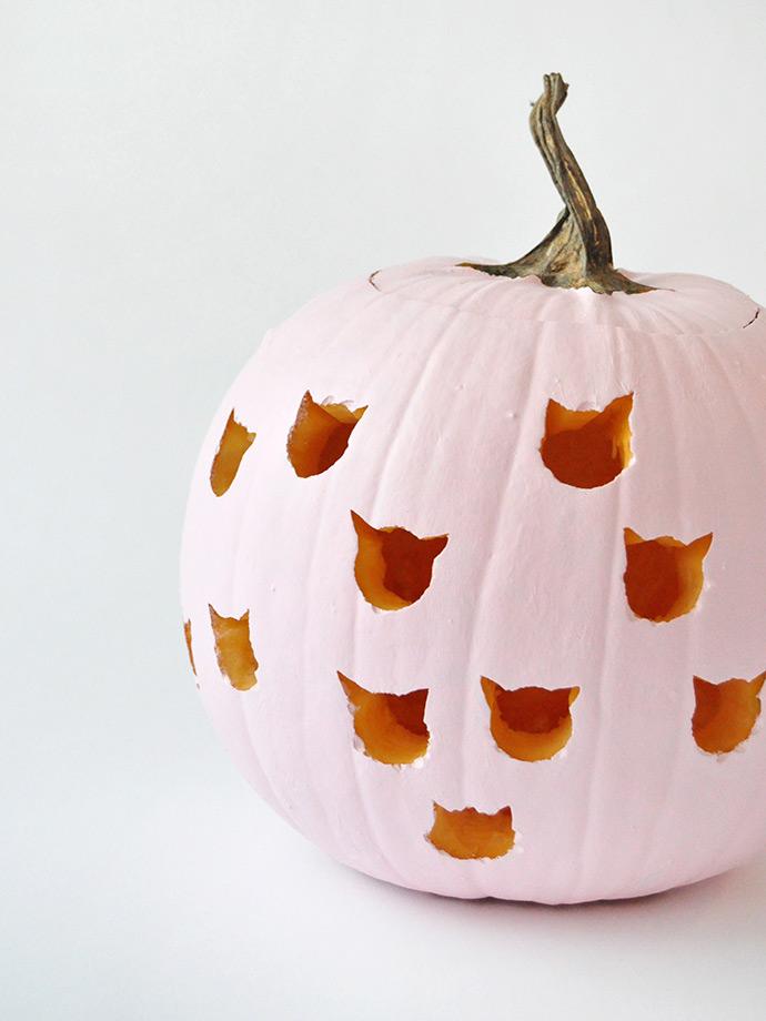 DIY Cat Drilled Pumpkins | Handmade Charlotte