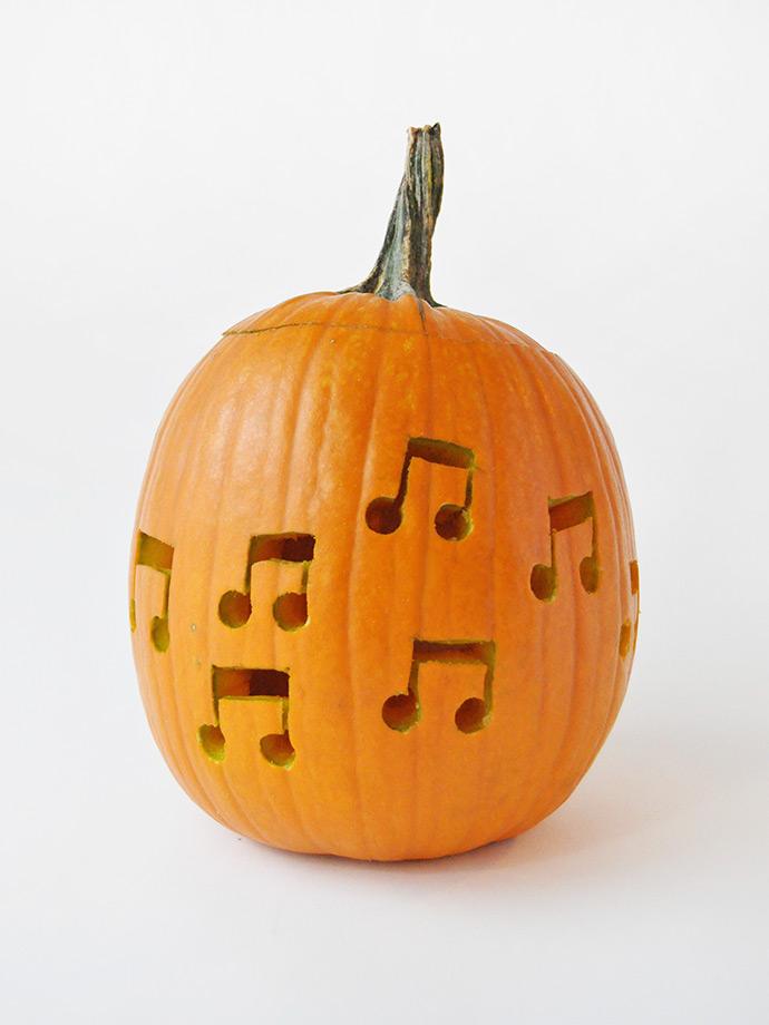 DIY Music Note Drilled Pumpkins.... : Handmade Charlotte ...