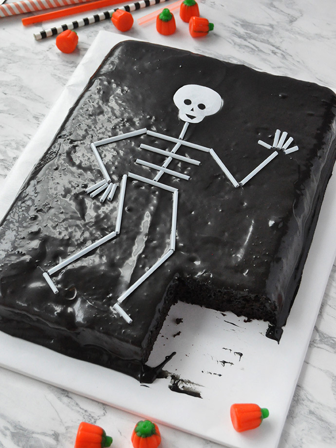 Straw Skeleton Cake Topper Handmade Charlotte