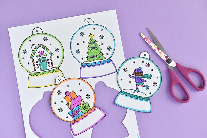 Printable Snow Globe Gift Tags Handmade Charlotte