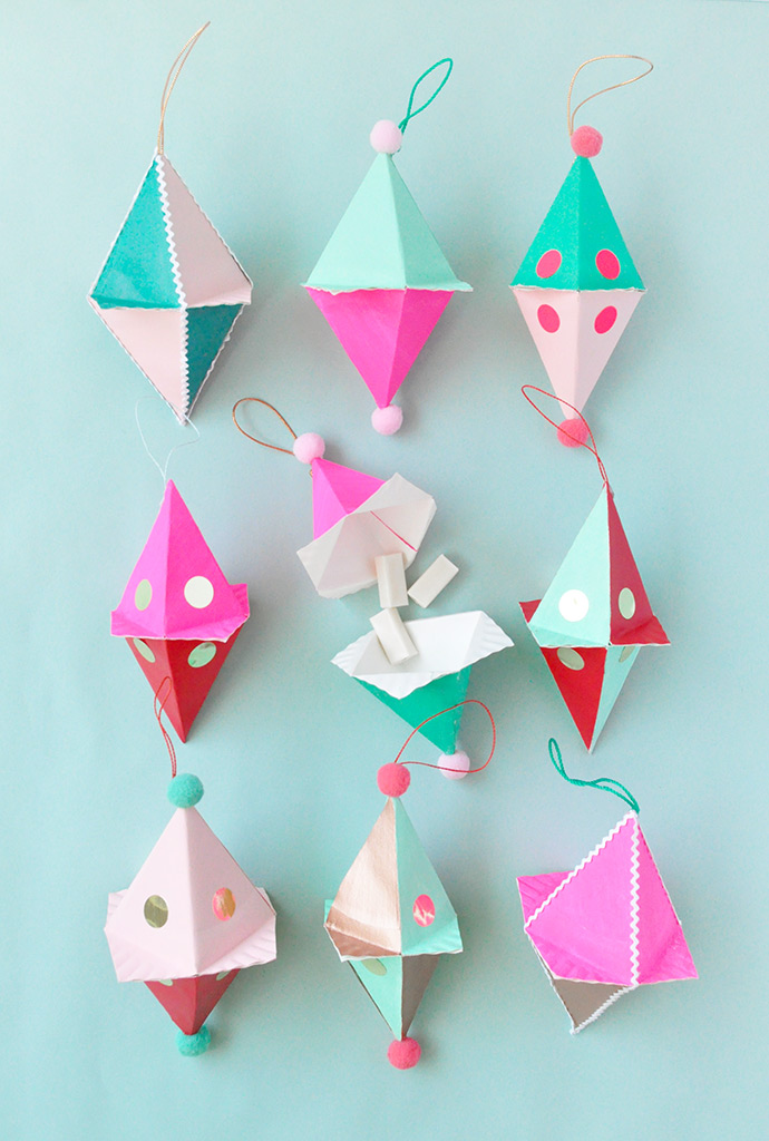 Candy-Filled Paper Plate Ornaments