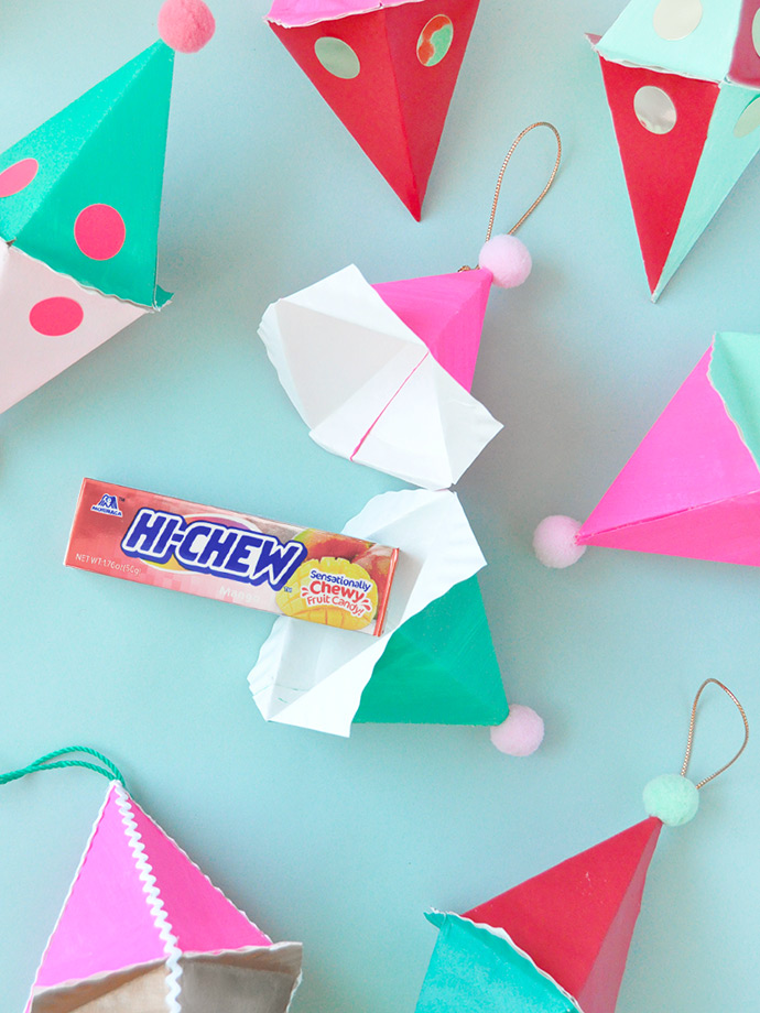 Not only are they quick and easy to make but theyu0027re filled with tasty HI-CHEW candies to make your holiday season extra sweet. Using paper plates ...  sc 1 st  Handmade Charlotte & Candy-Filled Paper Plate Ornaments ? Handmade Charlotte