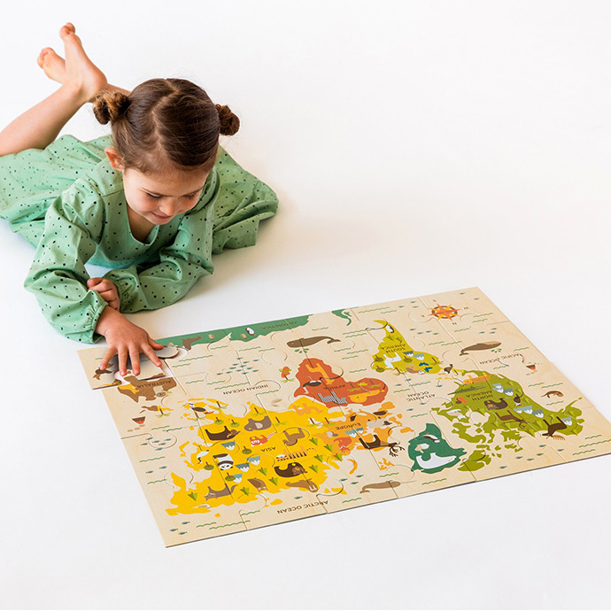 The sweetest toys this season from petit collage handmade charlotte world map floor puzzle go on an adventure with this best selling floor puzzle made of sturdy recycled cardboard this chunky 24 piece puzzle is perfect for gumiabroncs Image collections