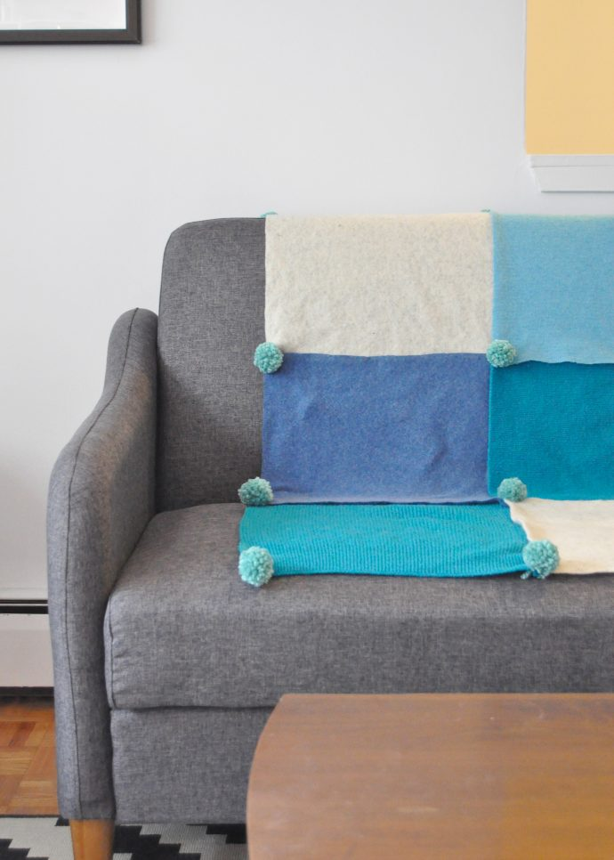 No-Sew Felted Throw Blanket