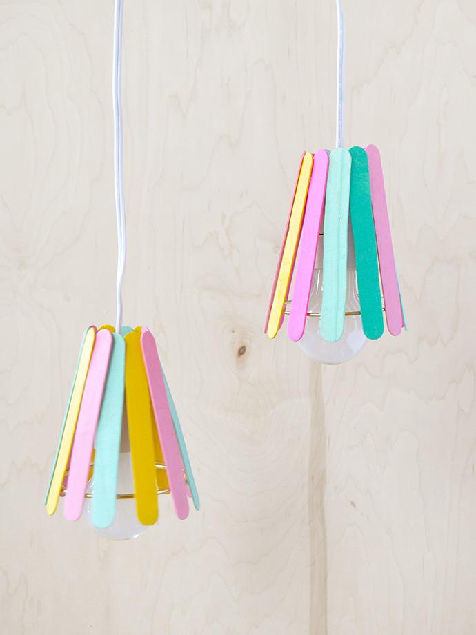 Diy Popsicle Stick Lamp ⋆ Handmade Charlotte