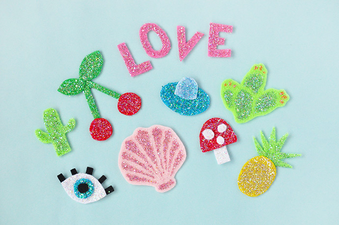 How to Make Your Own Glitter Patches Handmade Charlotte