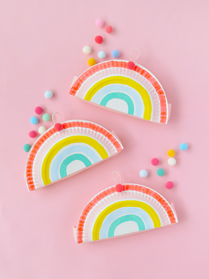 Plus weu0027ve got even more fun paper plate projects on the way. Stay tuned! Today though weu0027re painting these adorable rainbow pockets!  sc 1 st  Handmade Charlotte & Rainbow Paper Plate Pockets ? Handmade Charlotte