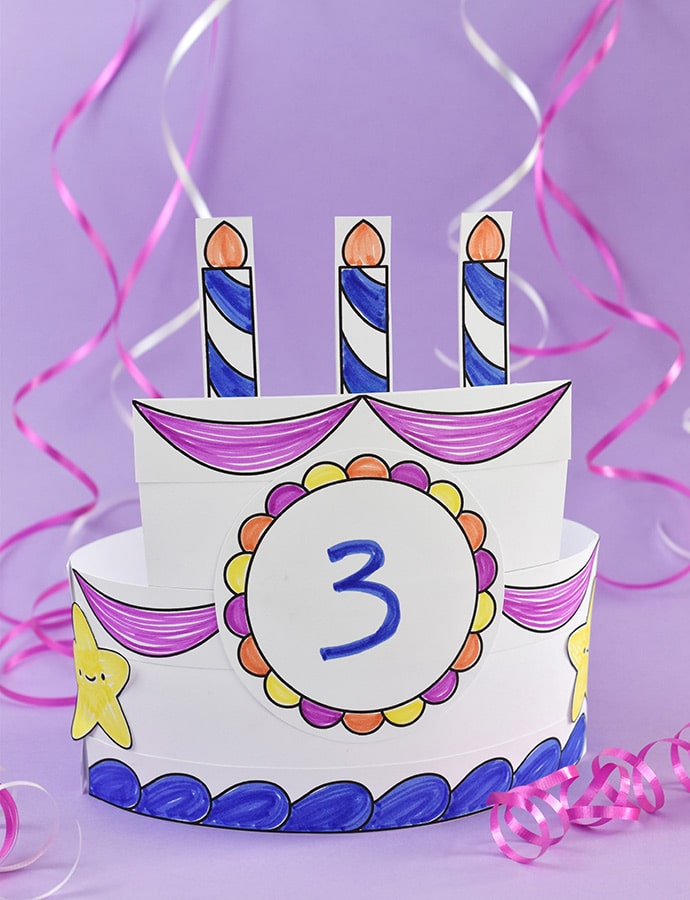 Printable Birthday Cake Crown