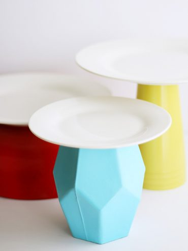DIY Spray Painted Cake Stands
