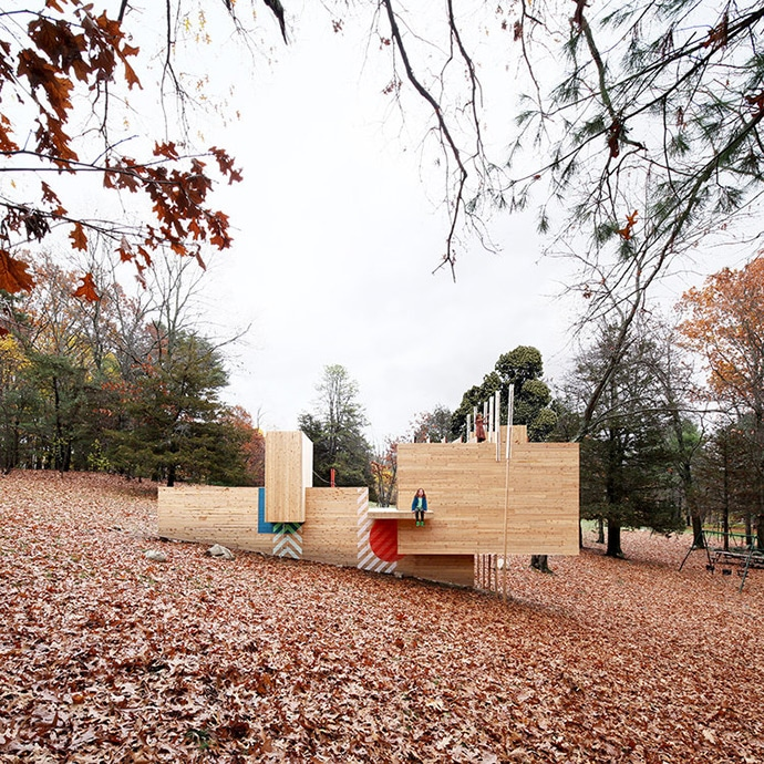 A Modern & Imaginative Play Structure