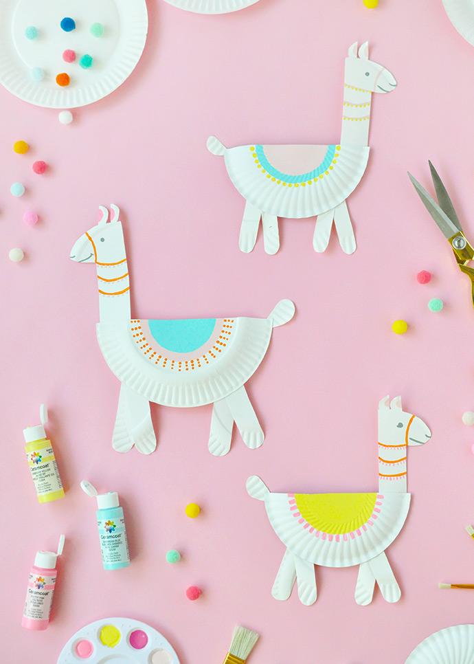 Paper Plate Llamas Handmade Charlotte