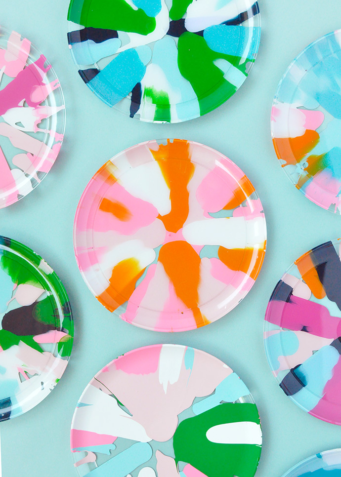 Salad Spinner Art Party Plates