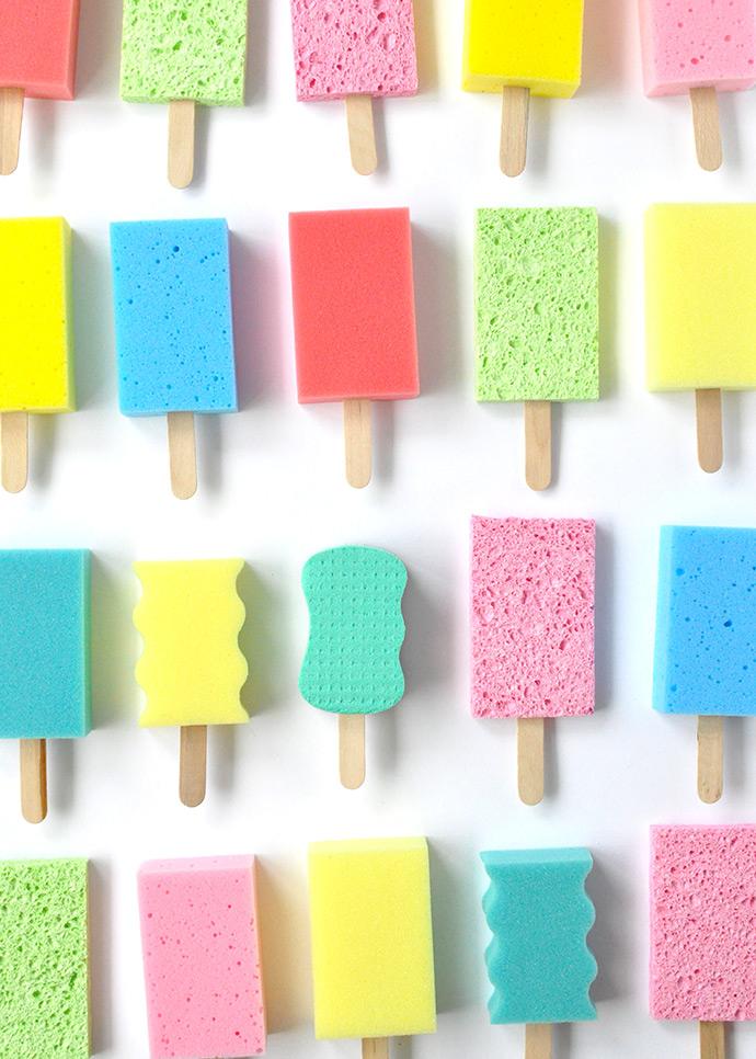 Dish Sponge Popsicles