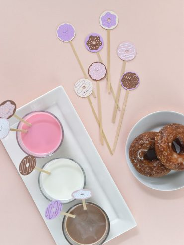 Printable Donut Drink Stirrers