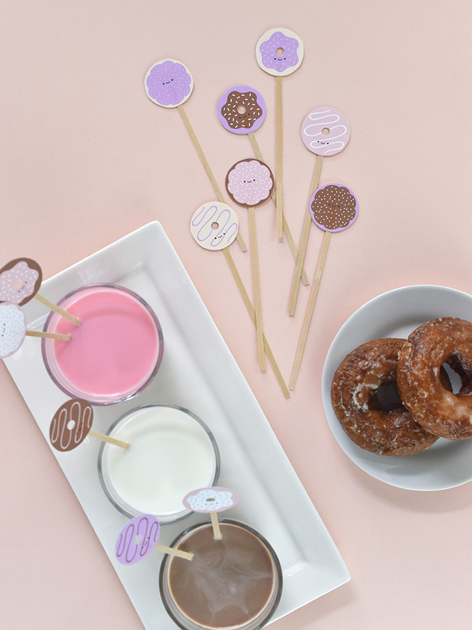 photo about Donut Printable called Printable Donut Consume Stirrers ⋆ Homemade Charlotte