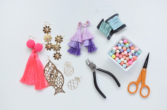 How To Turn Earrings into Backpack Charms
