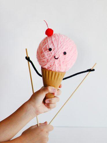 DIY Ice Cream Puppet