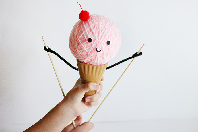 DIY Ice Cream Puppet