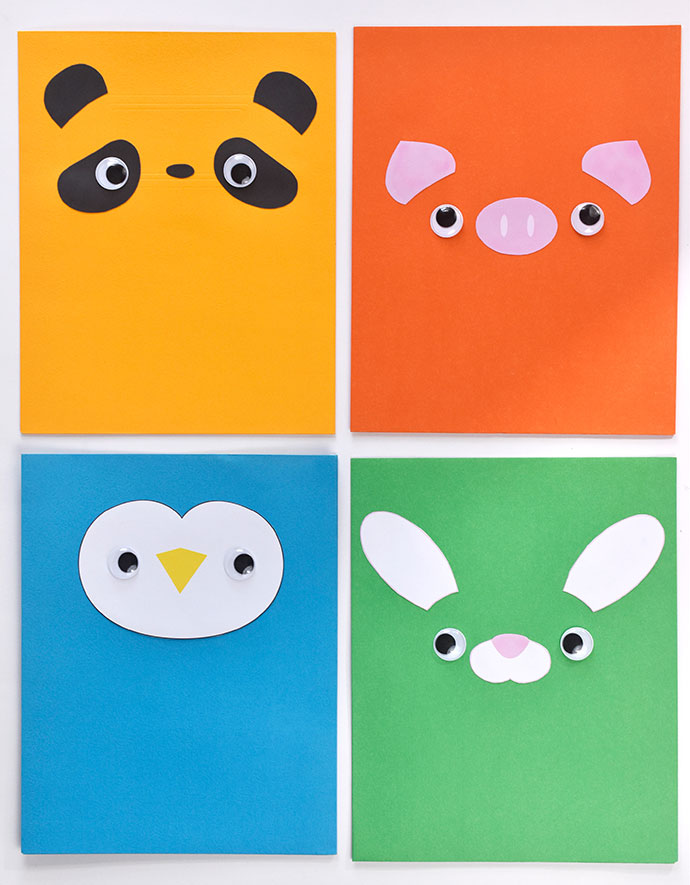 Animal Face Pocket Folders