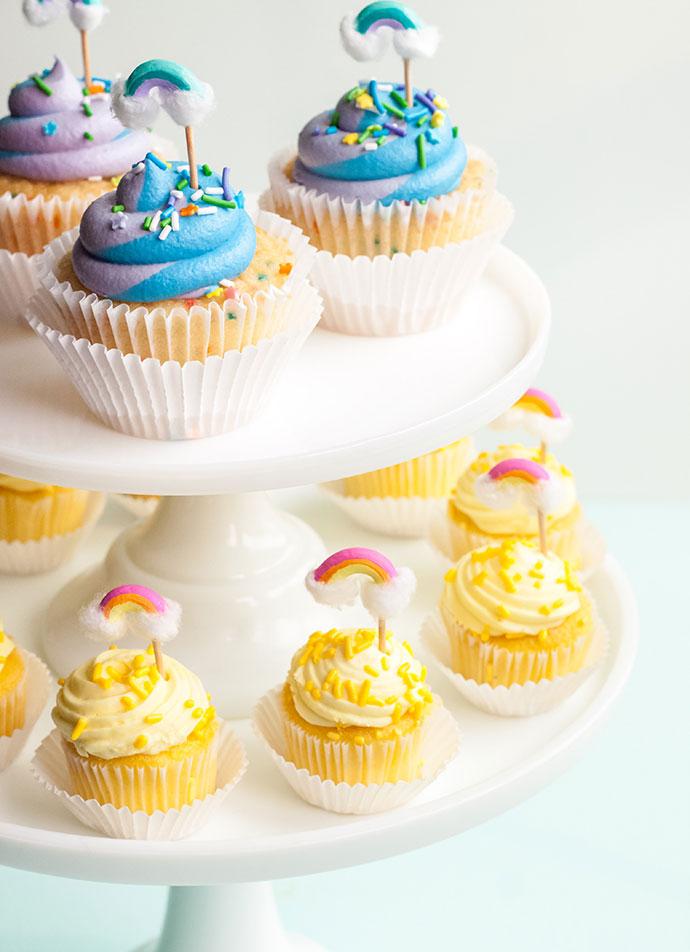 Macaroni Rainbow Cupcake Toppers