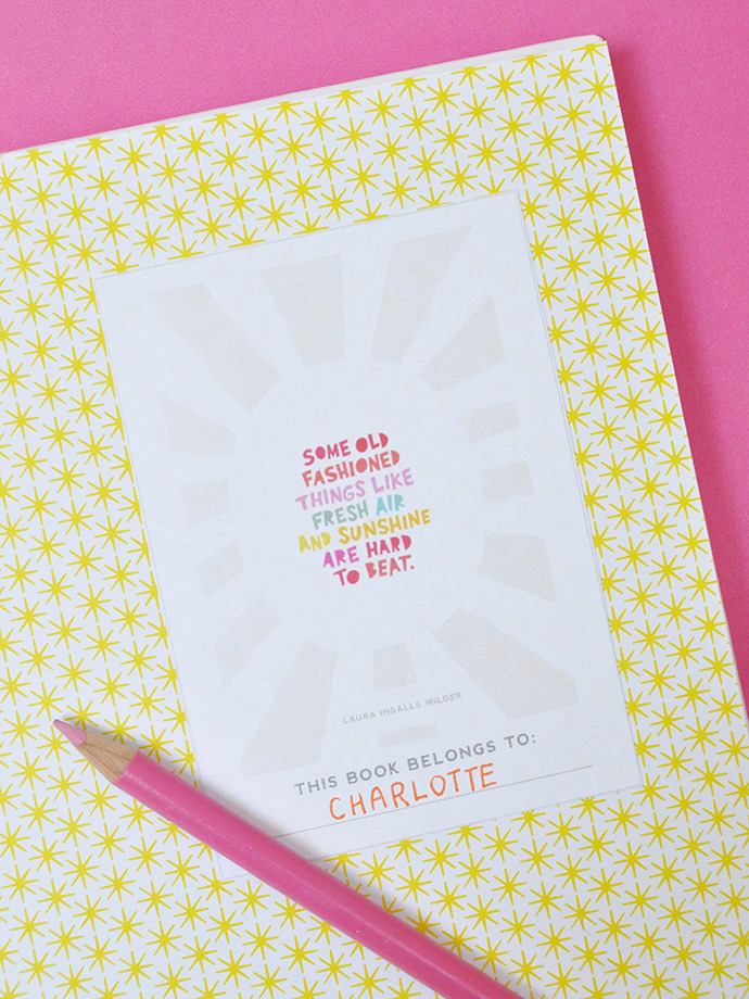 Sunshine-Filled Wallpaper & Printable Bookplates